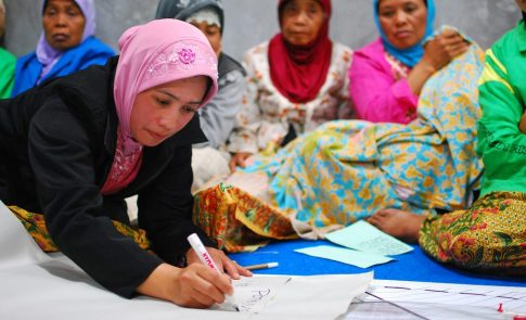 Women at Community Meeting in Indonesia
